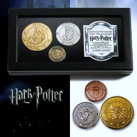 Harry Potter Gringotts Coins, Galleon, Sickle and Knut