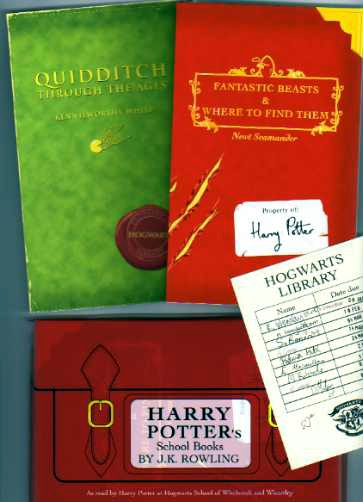 Harry Potter's School Books by J. K. Rowling UK 1st Editions