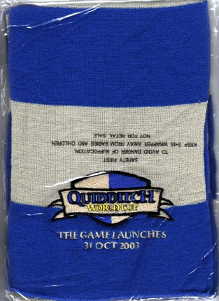 Promo Quidditch World Cup Scarf. Sealed 2003