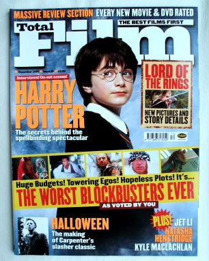 Total Film Magazine # 59 December 2001 Harry Potter Cover.