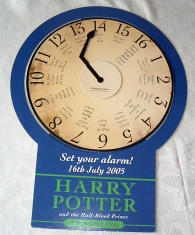 "Harry Potter Promotional Clock ""Half-Blood Prince"" Book Launch"