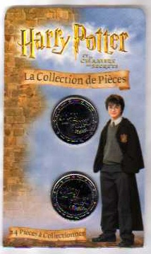 Harry Potter Collectable Coins. Chamber (French) 2002