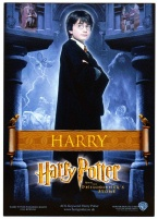 Harry Potter and the Philosophers Stone. Rare UK Postcard. (PC1)