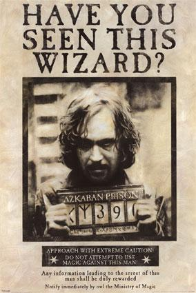 Harry Potter Sirius Black AZKABAN Wanted Poster.
