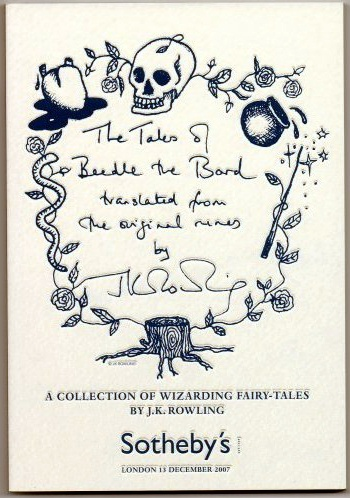 J K Rowling The Tales of Beedle the Bard. Book Catalogue