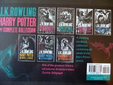 Harry Potter JK Rowling Bloomsbury 2015 Adult Hardback 7 Books