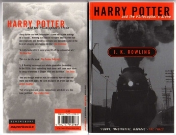 Harry Potter and the Philosophers Stone Original Adult Cover P/B