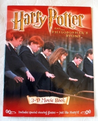 Harry Potter 3D Movie Book New & Unread with Goggles 2001