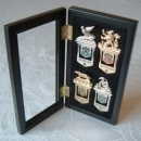 Harry Potter Gold & Silver Hogwarts Bookmarks in a Display Case