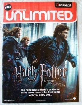 Cineworld UNLIMITED Magazine November 2010 Harry Potter