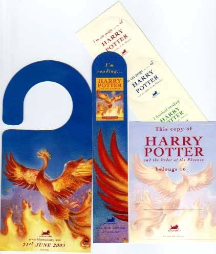 Harry Potter Order of the Phoenix. UK Readers Kit.