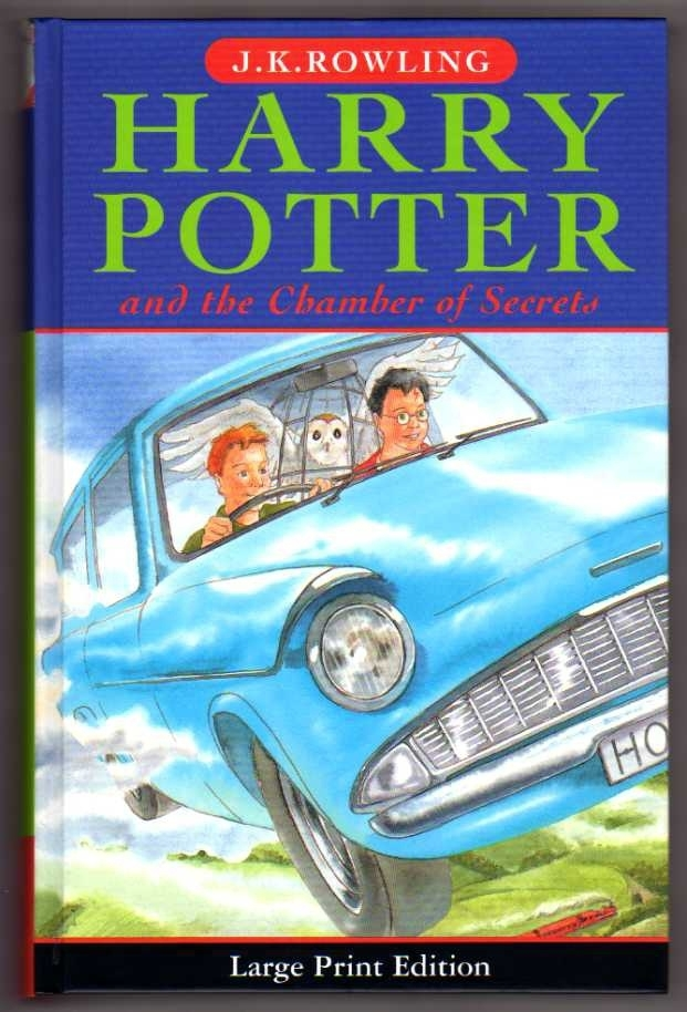 Harry Potter and the Chamber of Secrets. UK 1st Large Print Ed.