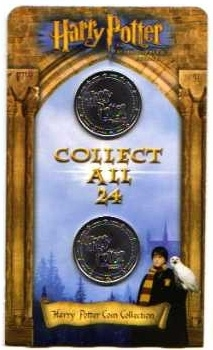 Harry Potter Collectable Coins. Philosopher's Stone. 2001 ASDA