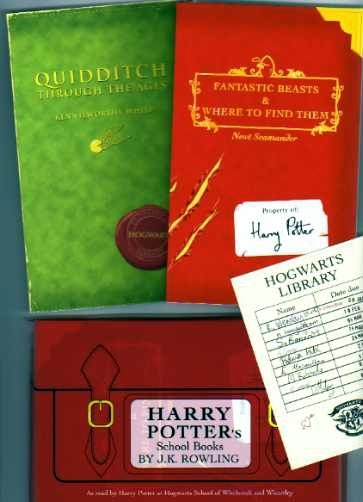 Harry Potters School Books By J K Rowling Uk 1st Editions From