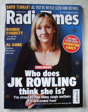 Rare Unread British Radio Times Magazine JK Rowling Cover