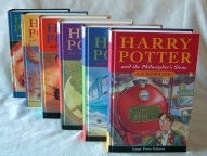 Harry Potter. Complete UK Large Print 1st Ed. Collection (7)