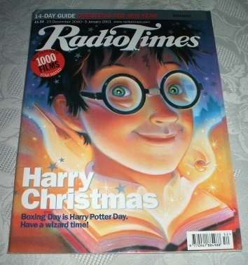 Radio Times Magazine December 2000 Harry Potter Cover