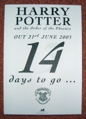 Harry Potter Rare Bloomsbury Count Down Calendar (Standee) 2003