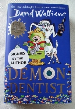 David Walliams Demon Dentist UK Hardback. Signed Copy.