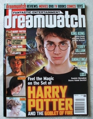 Dreamwatch Magazine December 2005 #135 Harry Potter Cover