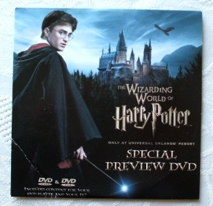 The Wizarding World of Harry Potter Rare Special Preview DVD