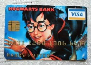 Credit Cruncherz Trading Card. Harry Potter Hogwarts Visa