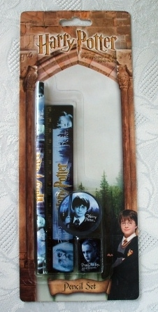 Harry Potter Original 2001 Pencil Set Unused & Sealed on Card.