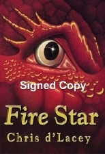 Chris d'Lacey FIRE STAR. Signed UK First Edition.