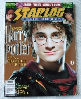 STARLOG Magazine #340 Nov 2005 Harry Potter Goblet Cover