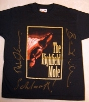 The Highfield Mole Ultra Rare T-Shirt. Double Signed!