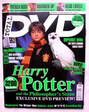 Total DVD Harry Potter Philosopher's Stone Magazine 2002