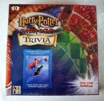 Harry Potter Chamber of Secrets Trivia Game Sealed. Mattel 2002