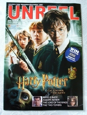 Unreel Magazine Nov/Dec 2002 Harry Potter Chamber Cover