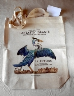Fantastic Beasts Bloomsbury Canvas TOTE Bag. UK Promo