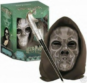 Lucious Malfoy Death Eater Voice Changing Mask Interactive Wand From
